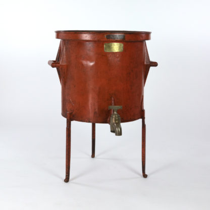 Persimmon Color Painted Metal Wine Making Barrel French, Circa 1860.Garden Court Antiques, San Francisco