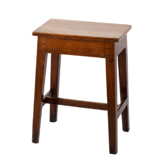 Simple And Elegant English Fruitwood Work Stool With H-Stretcher, English, Circa 1870.