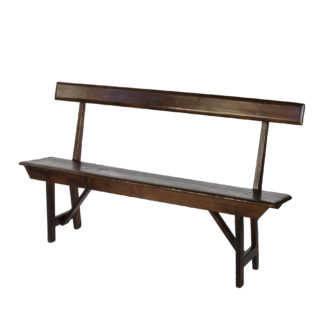 Georgian Pitch Pine Country Bench; England, Circa 1800