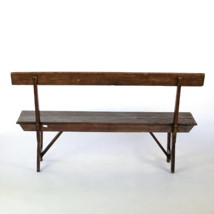 Georgian Pitch Pine Country Bench; England, Circa 1800