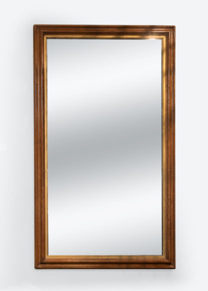 Very Large Scale Moulded Oak Mirror Frame With Gilt Slip, Wonderful Original Mercury Plate English Circa 1880