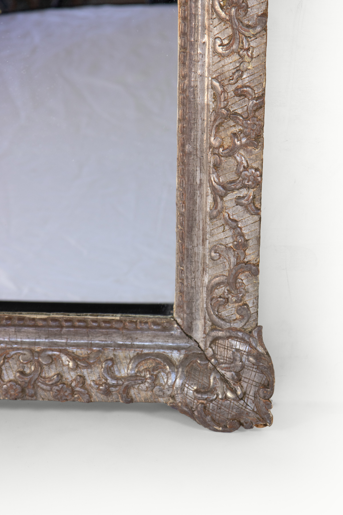 Small French Silver Gilt Mirror 19th Century 415 355 1690