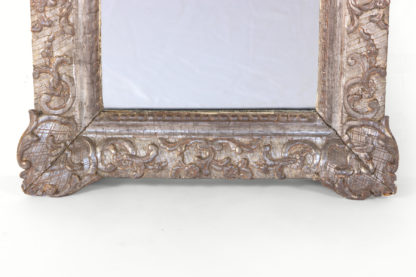 Small Scale Carved Silver Gilt Mirror Frame; French, Circa 1870.