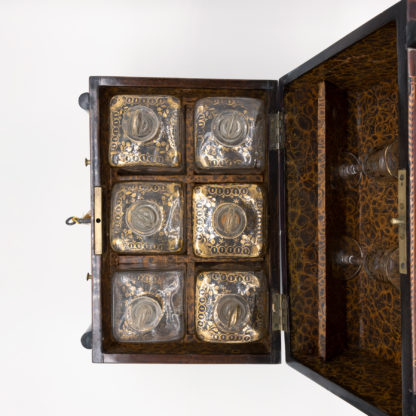 French Empire Mahogany Tantalus; Concealed As Miniature Chest Of Drawers; French, circa 1820