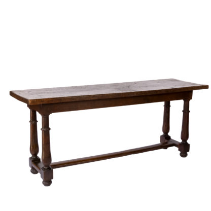 French Oak Refectory Table, Mid-19th century.