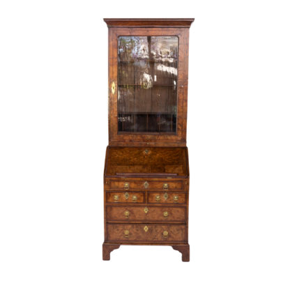 George I Walnut Bureau Bookcase; English, Circa 1710.
