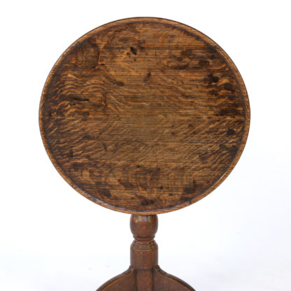 Late 18th Century Oak Tilt-Top Tripod Table, English Circa 1780.