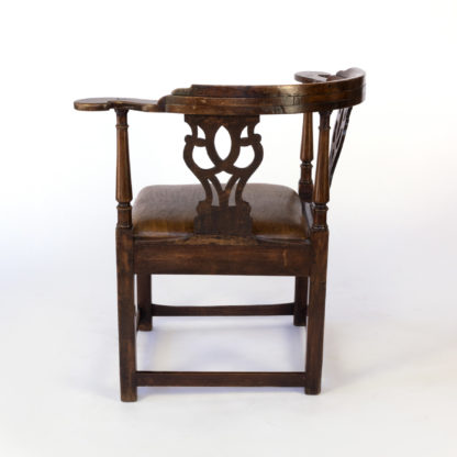 "Large Chippendale Period ""Roundabout"" Corner Chair; English, Circa 1760"
