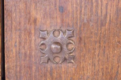 Late Baroque Period Single Door Cabinet, Decorated With Nine Cast Iron Quatrefoil Medallions; Spanish, Circa 1750