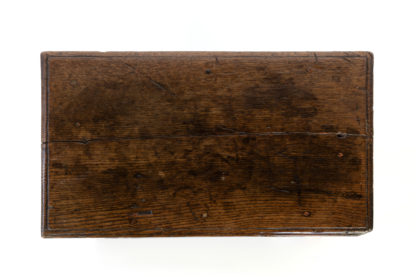 English Oak Joint Stool With Box Stretcher, Circa 1840