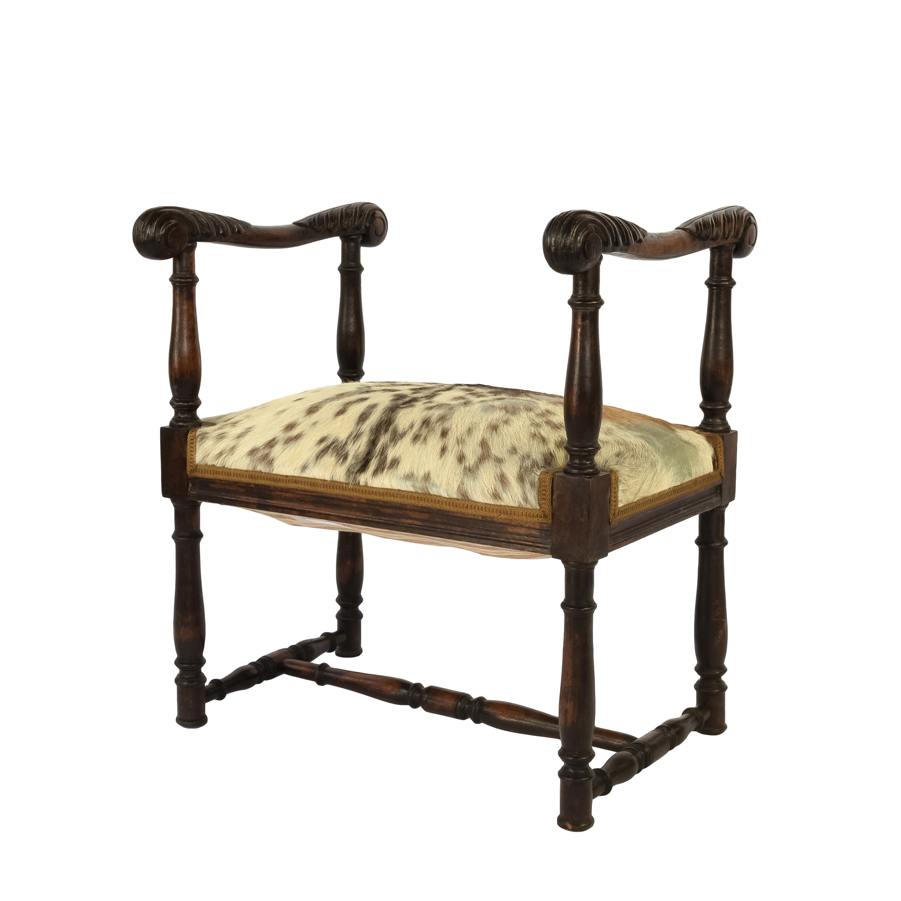 Prime Unusual French 19Th Century Carved Oak Upholstered Stool With Elaborately Carved Arms Creativecarmelina Interior Chair Design Creativecarmelinacom