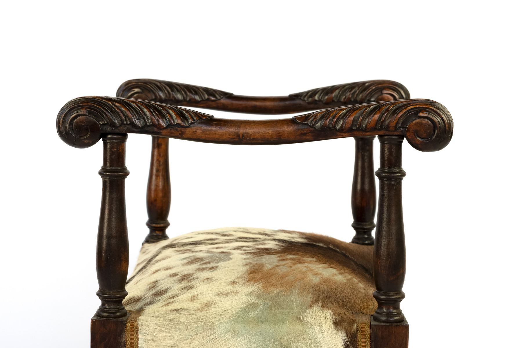 Sensational Unusual French 19Th Century Carved Oak Upholstered Stool With Elaborately Carved Arms Creativecarmelina Interior Chair Design Creativecarmelinacom