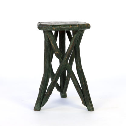Primitive Green Painted Octagonal Cornish Hedgerow Table; English, circa 1860.