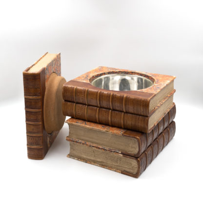 Late Victorian Book Stack Concealed Wine Cooler; English, Circa 1880.