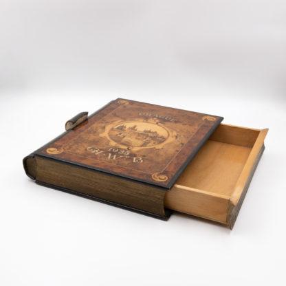 A Whimsical Secret Compartment Book Box. 'Prague, 1935 CH.W.B.'