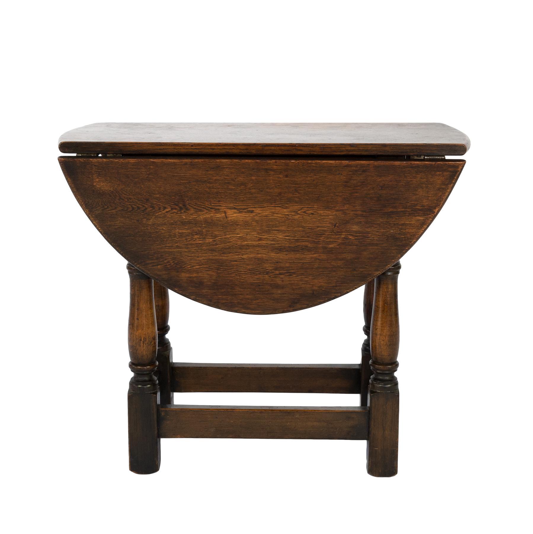 Antique Small Oak Drop Leaf Table English Circa 1890 415 355 1690