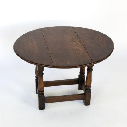 Very Small Scale Oak Swivel Top Drop-Leaf Table; English Circa 1890