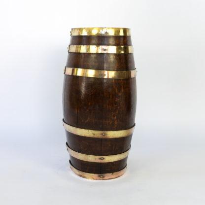 Handsome Brass Bound Oak Barrel; English, Circa 1890.