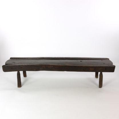 Low Rustic Oak Bench, English Circa 1860.