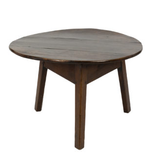 Handsome Low Fruitwood Cricket Table, English, Circa 1850.