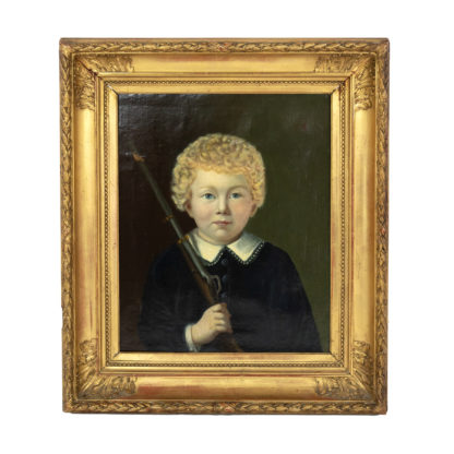 Portrait of a boy, Dutch circa 1840, unsigned.