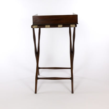 Handsome Mahogany Butler's Tray on Stand, English, circa 1870.