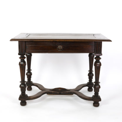 French Walnut Side Table With Single Drawer, Circa 1780.