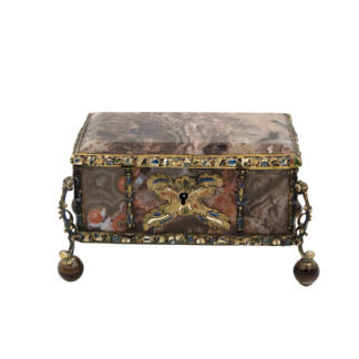 A Rare And Very Large Ormolu Agate Box, France Circa 1840.
