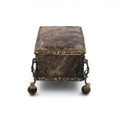 A Rare And Very Large Ormolu Agate Box, France Circa 1840.