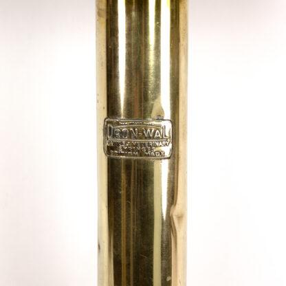 English Brass Veterinarians' Syringe Mounted As A Lamp, Circa 1860.