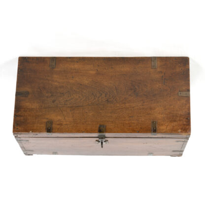 Teak Traveling Trunk, Anglo Indian, Made For An English Market Circa 1870.