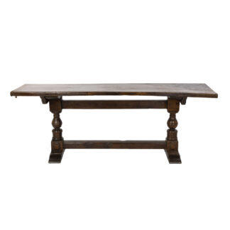 Late 18th Century Italian Walnut Trestle Library Table; Bologna, Italy Circa 1780.