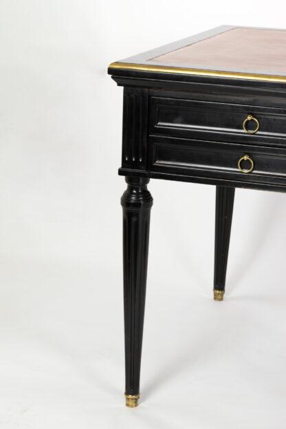Directoire Style Ebonized Mahogany Bureau Plat; French circa 1890.