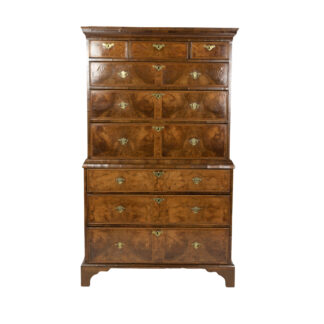 George III Walnut and Mahogany Chest on Chest; English, Circa 1780.