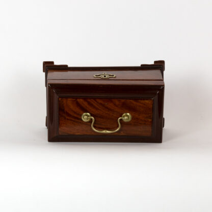 Solid Mahogany George III Tea Caddies & Box, Circa 1760-1815.