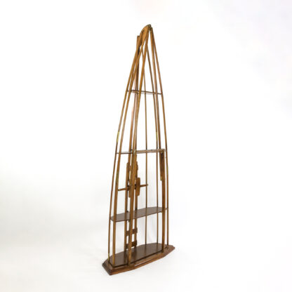 English Kayak Frame Reworked As A Four-Tier Etager/Bookcase, Early 20th Century, English.