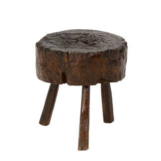 Small Scale Oak Butcher's Block, English circa 1880 at Garden Court Antiques