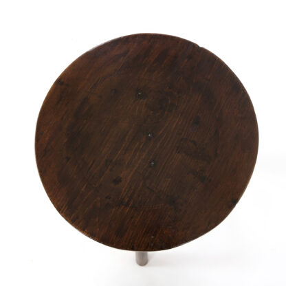 Rustic Small Scale Fruitwood Cricket Table; English, Circa 1880.