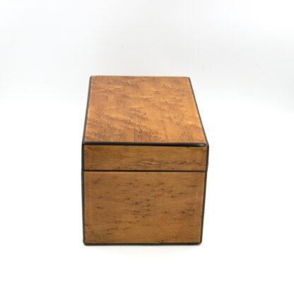 Choice Birds Eye Maple Box With Ebony Edging; English, Circa 1830-1850.