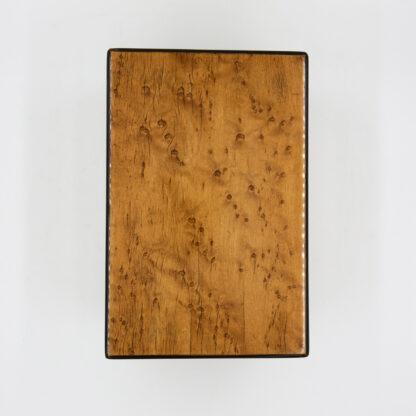 top of a Choice Birds Eye Maple Box With Ebony Edging; English, Circa 1830-1850.