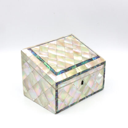 Mother Of Pearl Slant Top Stationary Box; English, Circa 1880.