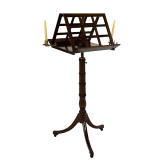 Regency Period Duet Stand in Walnut; English, Circa 1820.