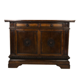 Tuscan Walnut Baroque Revival Commode; Italian, Circa 1800.