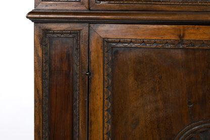 Tuscan Walnut Baroque Revival Commode; Italian, Circa 1800.