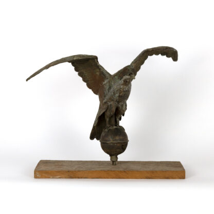 19th Century Copper Pilot House Eagle Weathervane On Later Mount American, Circa 1885