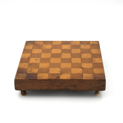 Vintage Checker Board, Inlaid With Satinwood And Chestnut; English, Circa 1880.