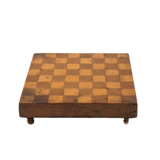 Vintage Checker Board w inlaid wood English, Circa 1880.