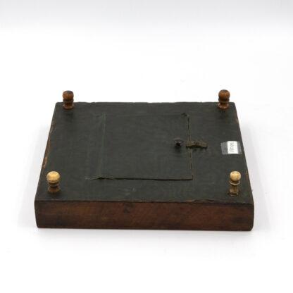 Vintage Checker Board w inlaid wood English, Circa 1880.