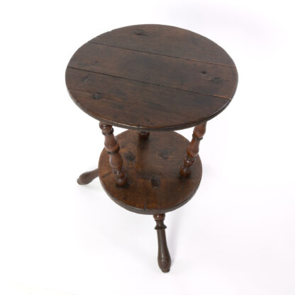Unusual Early 18th Century Double Tier Cricket Table With Oak Top, English Circa 1720.