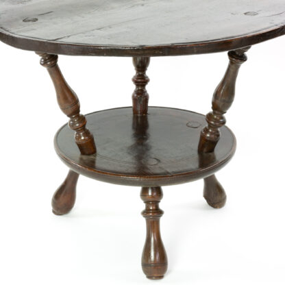 Unusual Early 18th Century Double Tier Cricket Table With Oak Top, English Circa 1720